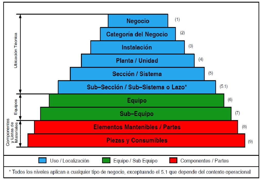 Figura 3. Pirámide de Niveles Taxonómicos Fuente: Petróleos de Venezuela Norma MM-01-01-07 (2012)
