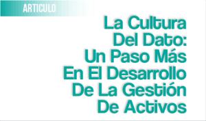 La Cultura del Dato: un Paso Más en el Desarrollo de la Gestión de Activos
