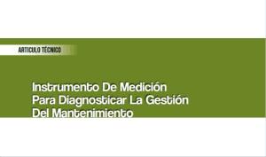 Instrumento de Medición para Diagnosticar la Gestión de Mantenimiento