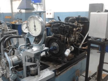 Figura No. 4 - Motor de combustión interna Diesel de 4 cilindros acoplado a un freno hidráulico