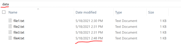 How to get the most recent Filename based on Creation or Modification Date 1