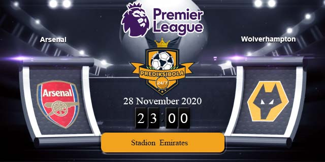PREDIKSI BOLA JITU ARSENAL VS WOLVERHAMPTON 28 NOVEMBER 2020