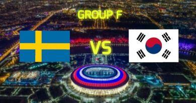 Prediksi Bola Sweden vs South Korea Tanggal 18 Juni 2018