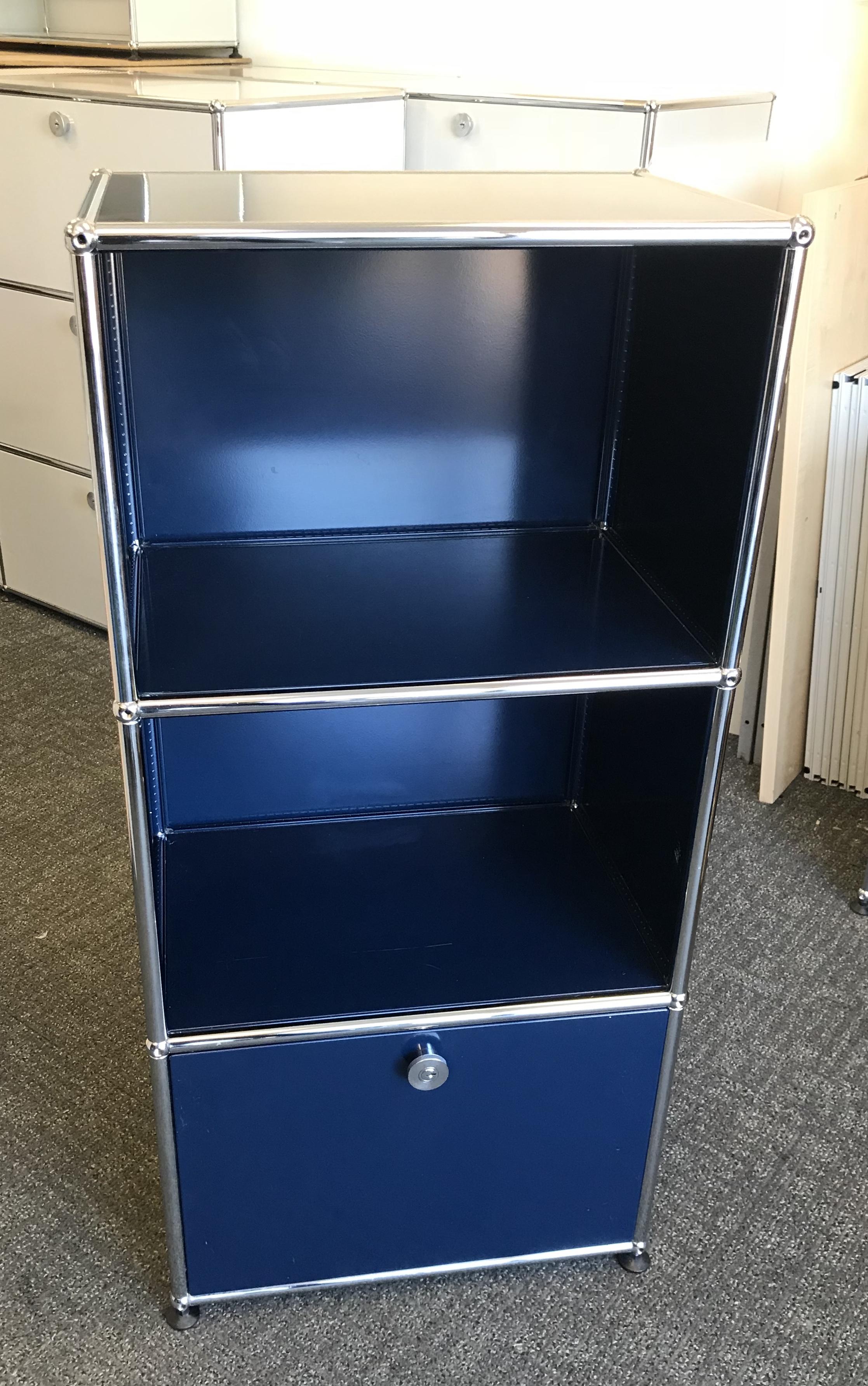 USM Haller Blue Modular Storage Cabinet 350mm