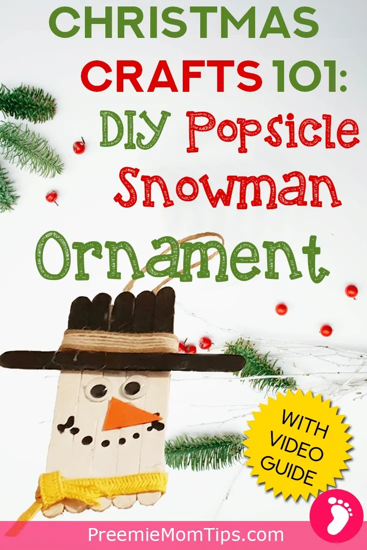 Have DIY Christmas tree this Holiday season with this Christmas Craft that you can make with your toddlers and children! It's a Popsicle Snowman Ornament!