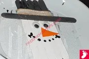 Easy DIY Snowman Christmas Craft for Kids