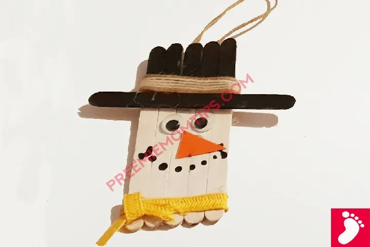 Easy DIY Snowman Christmas Craft for Kids