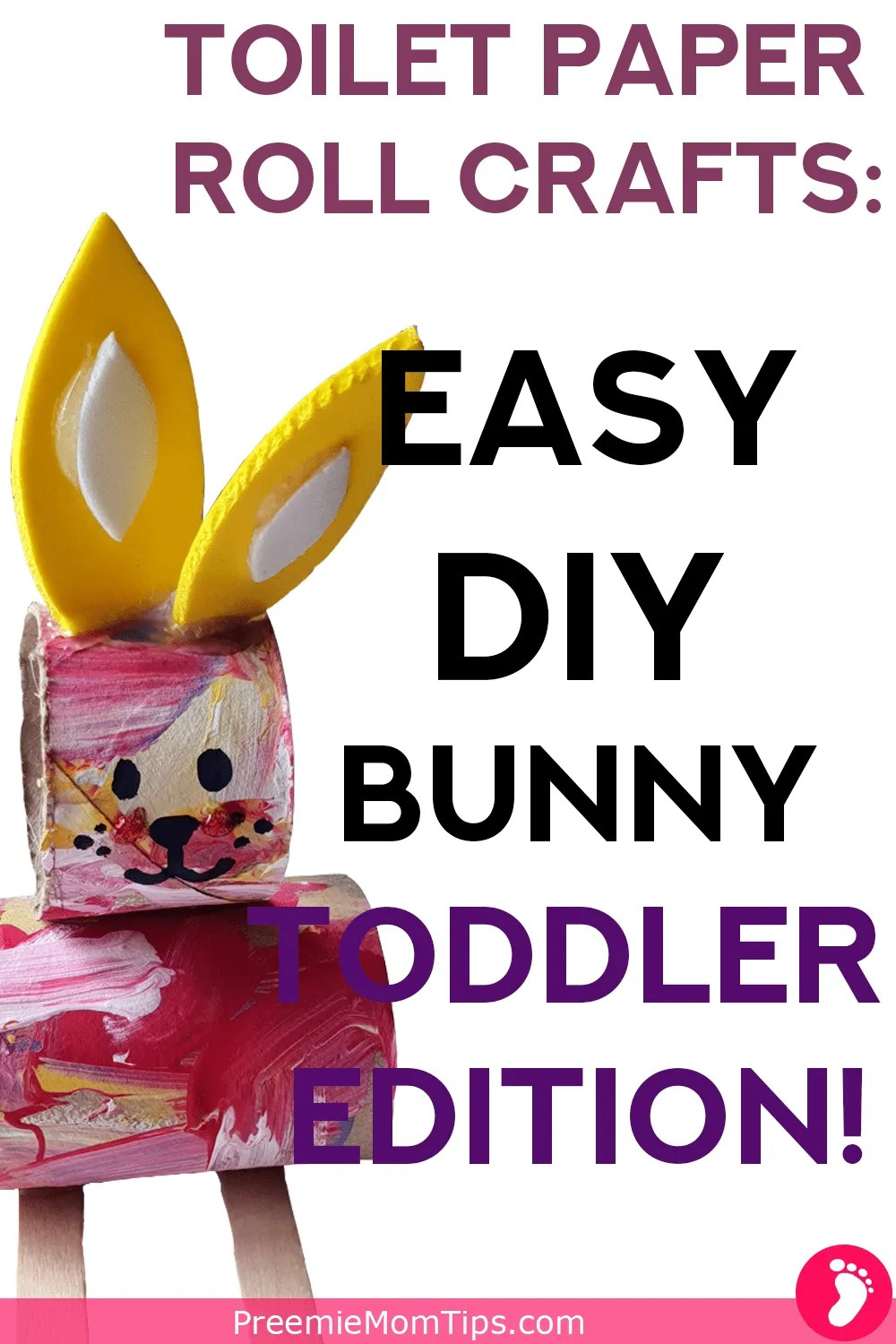 Rainy day? Crafty mommy? Bored toddler? Why don't you try this adorable toilet paper roll bunny with your toddler to spark the fun and the creativity! Get ready fora super fun mommy and toddler bonding time!