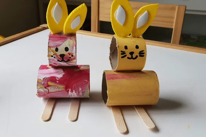 Toddler Crafts: Bunny Paper Roll Step 10