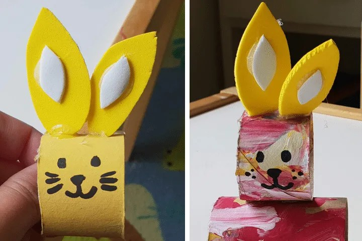 Toddler Crafts: Bunny Paper Roll Step 9