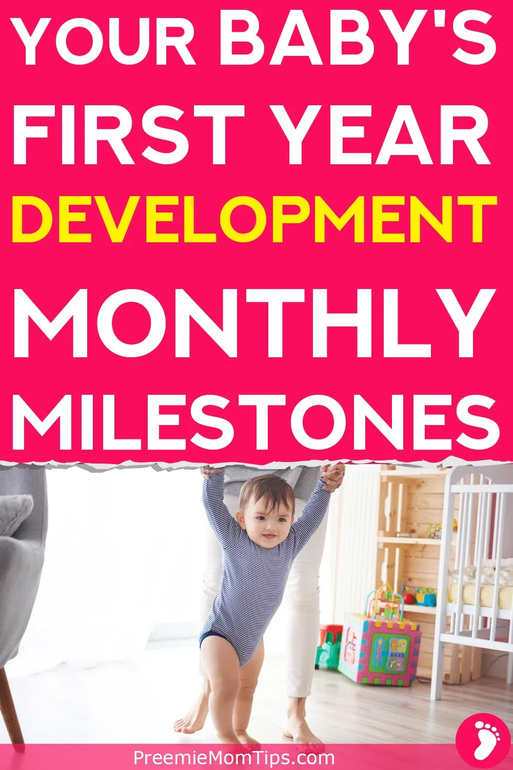 Are you a new parent? Then you definitely need to track your little one's development! Don't miss a thing with this baby milestone guide, month by month!