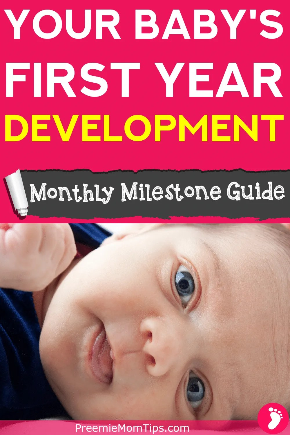 A monthly milestone tracker and development guide especially made for new parents who want to keep things simple! Track your baby's development with a free printable inside!