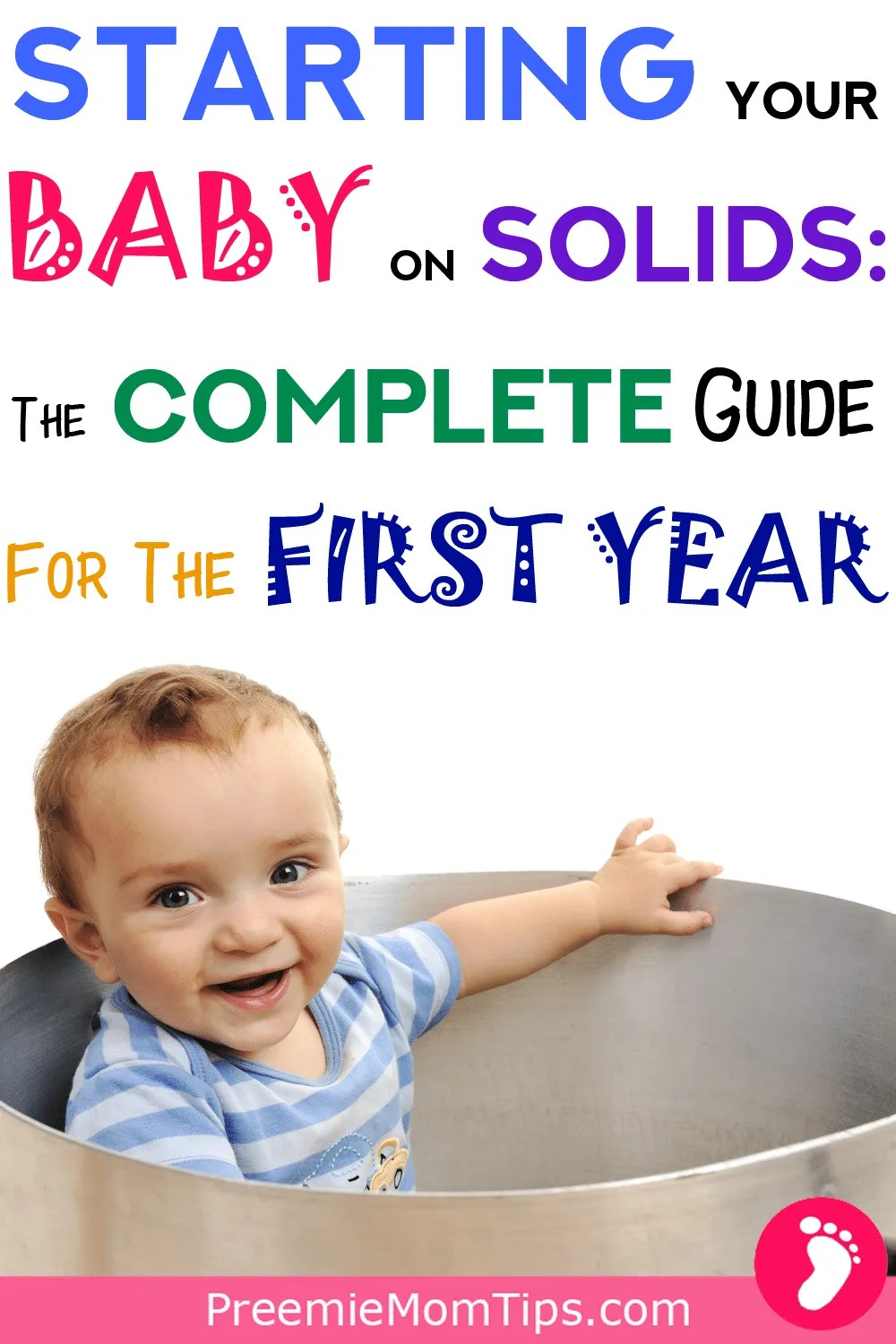 Find out all you need to know about starting baby on solids during the first year