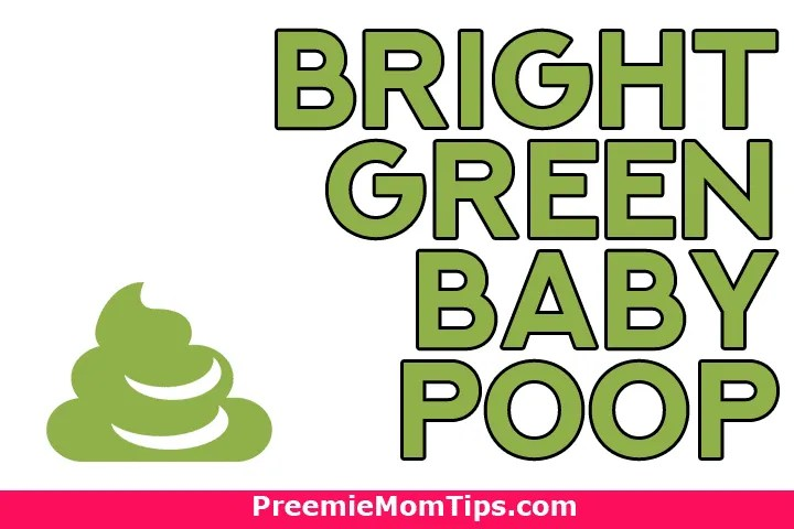 What does bright green baby poop mean?