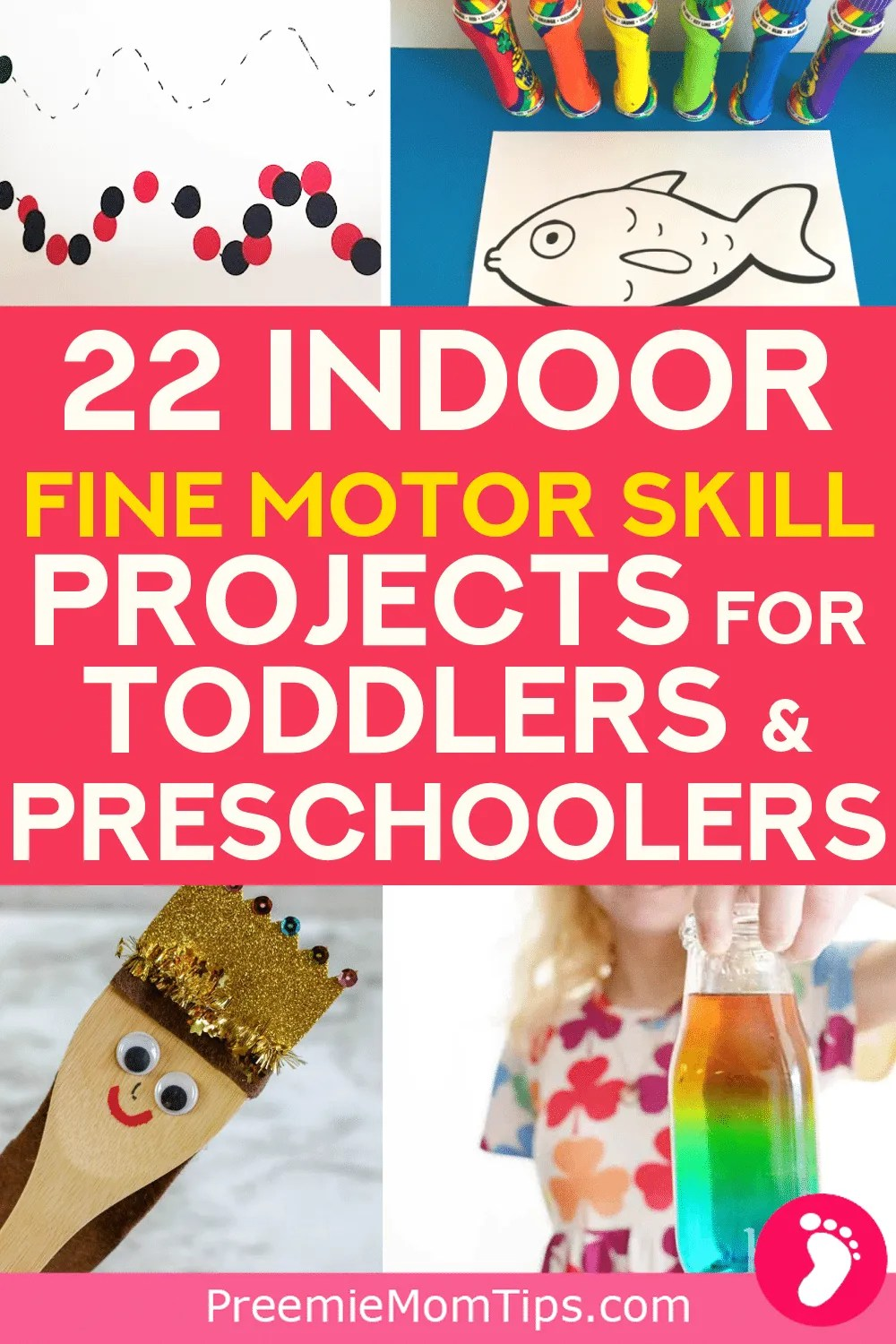 Keep your kids entertained at home while developing their fine motor skills with these 22 indoor activites for kids under 6 that are pure genius!