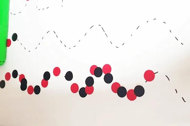 Indoor activities for preschoolers: Sticker path