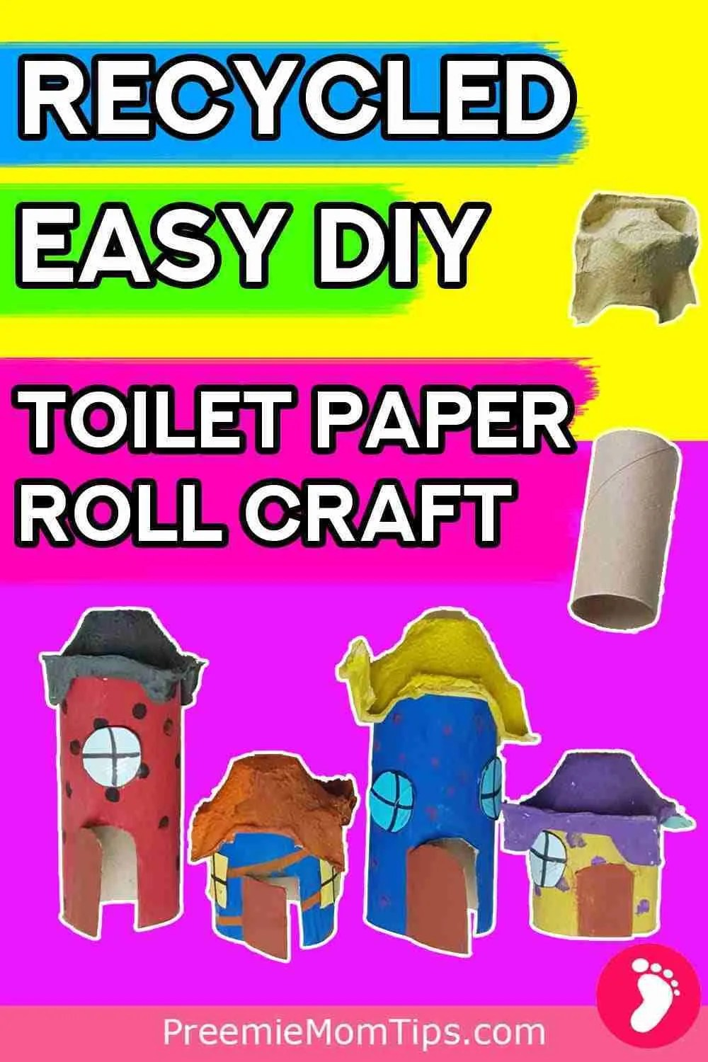 How to make your own easy recycled toilet paper roll craft house to play with!