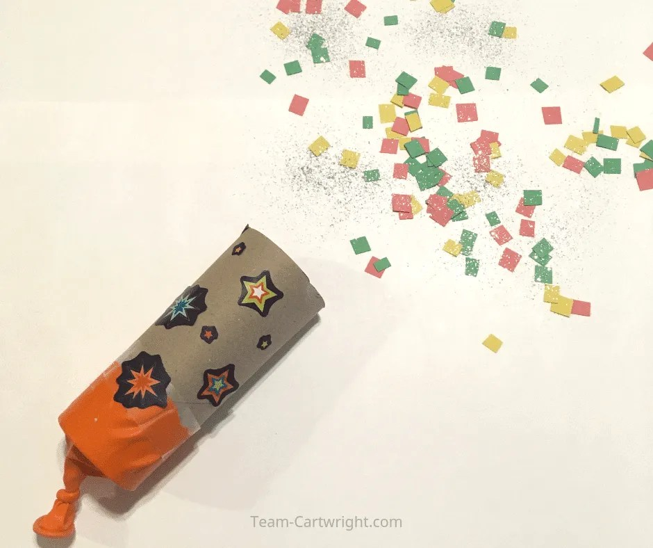 Easy toilet paper roll crafts for kids: Confetti Popper