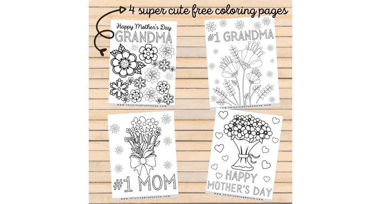 Printable coloring pages for kids to give to their moms on Mother's day