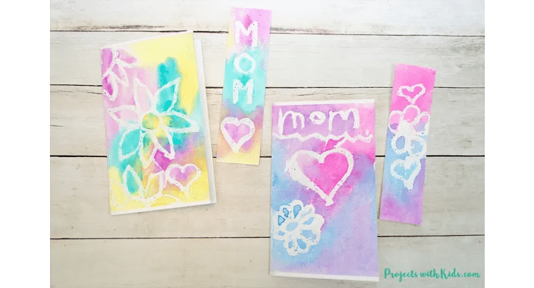 Beautiful water color project craft for Mother's day