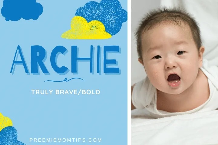 "Archie, meaning ""Truly Brave"" is a top trending name for baby boys."