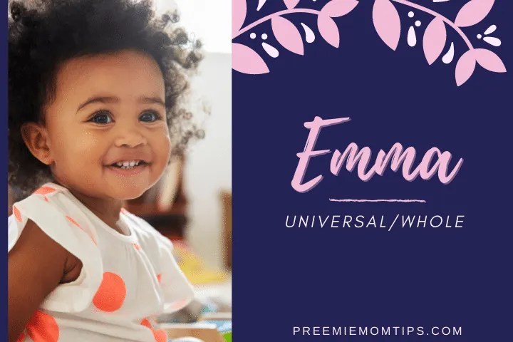 Emma is a baby girl name widely used in recent years.