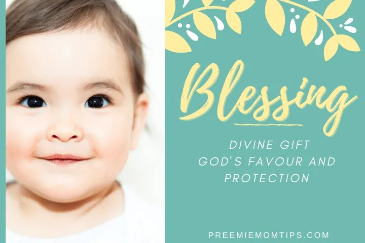 "Blessing is trending among baby names for girls. It means ""Divine Gift""."