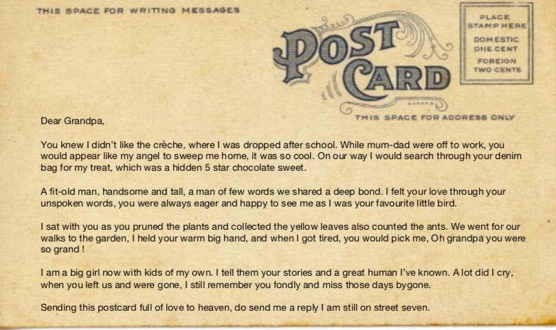 post card for grandpa