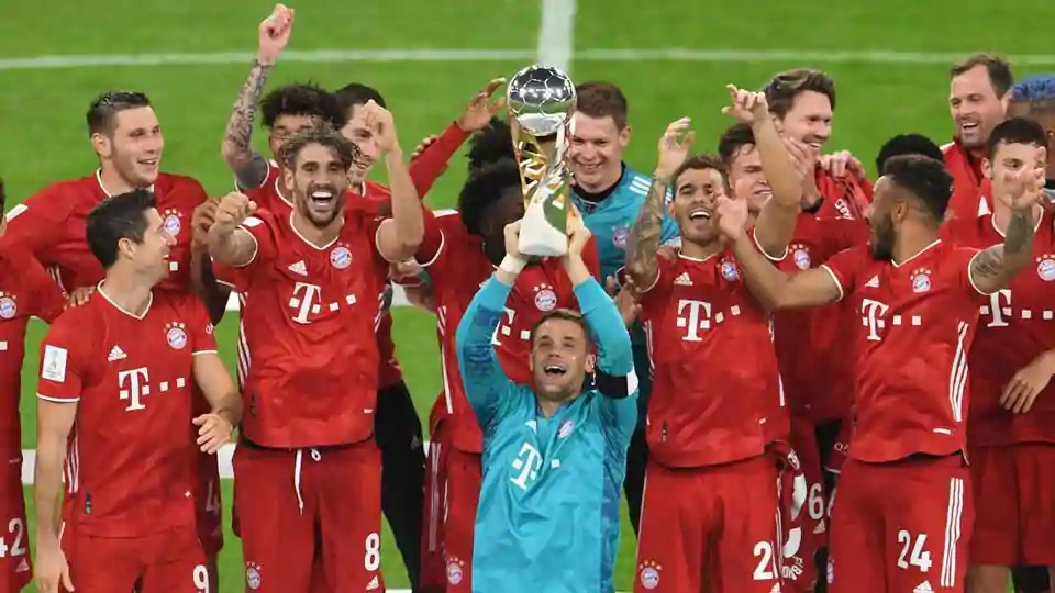 Bayern Munich beat Borussia Dortmund to win Super Cup and fifth title of year