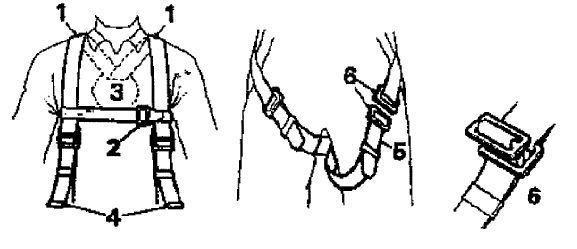 dibujo de arnés anticaída