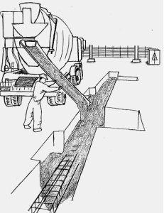 imagen de vertido de hormigón en vigas riostras