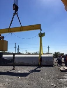 Volteo de dovelas en obra, para torres eólicas en Mexico . imagen cedida por Paigroup.es