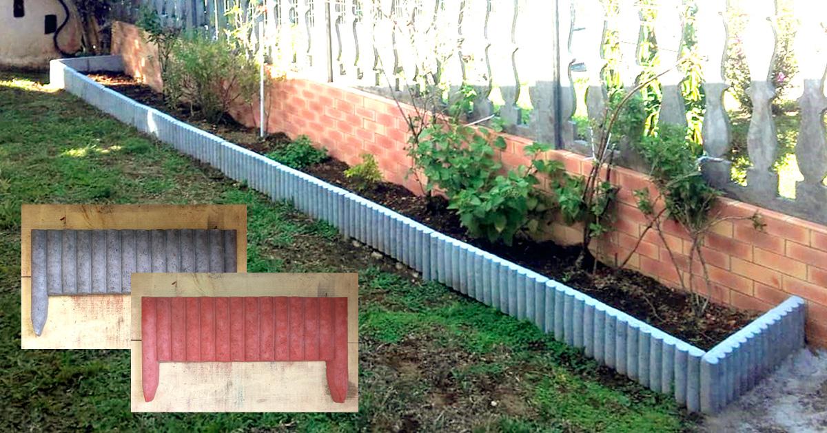 les bordures de jardin en beton