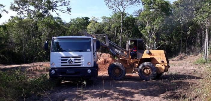 Vila de Fazenda tem vicinal para Juaba totalmente  recuperada