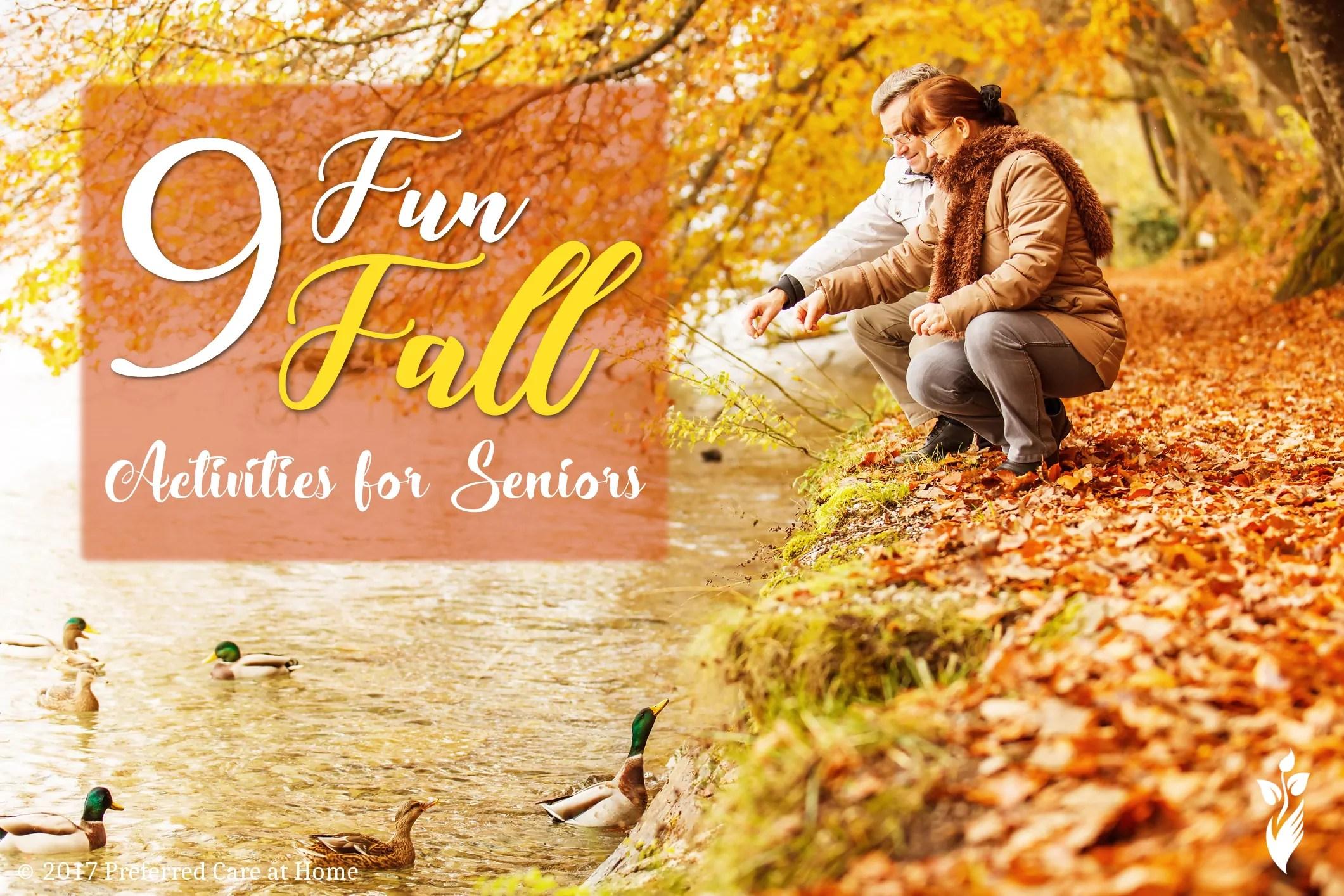 9 Senior Activities For The Fall Season