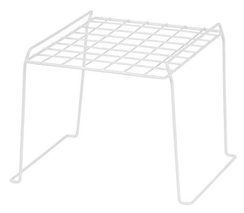 IRIS 8-inch Stackable Wire Locker Shelf, White