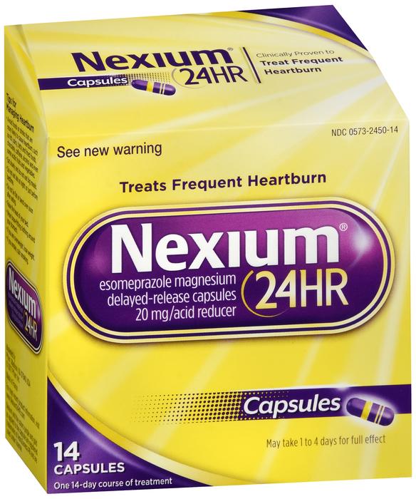 Nexium 24HR Heartburn Relief Capsules Acid Reducer 14 ...