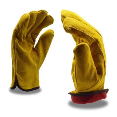 Standard Grain Split Cowhide Fleece Lined Driver Gloves