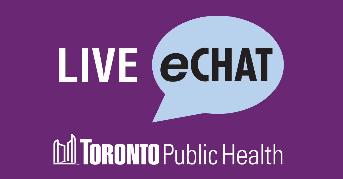e-Chat with Toronto Public Health link
