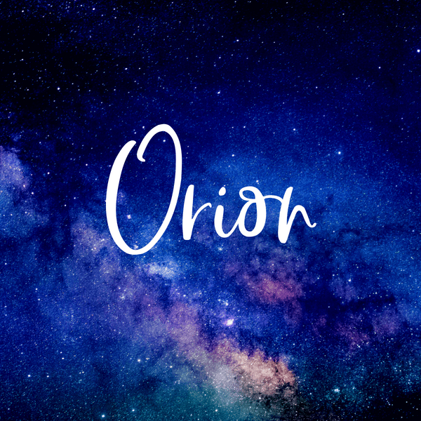 Orion makes a great baby boy space inspired baby name.