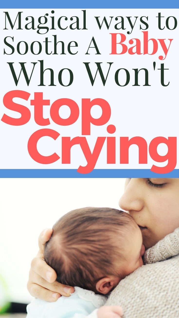 Help your baby to stop crying. Tips and techniques to soothe a fussy baby.