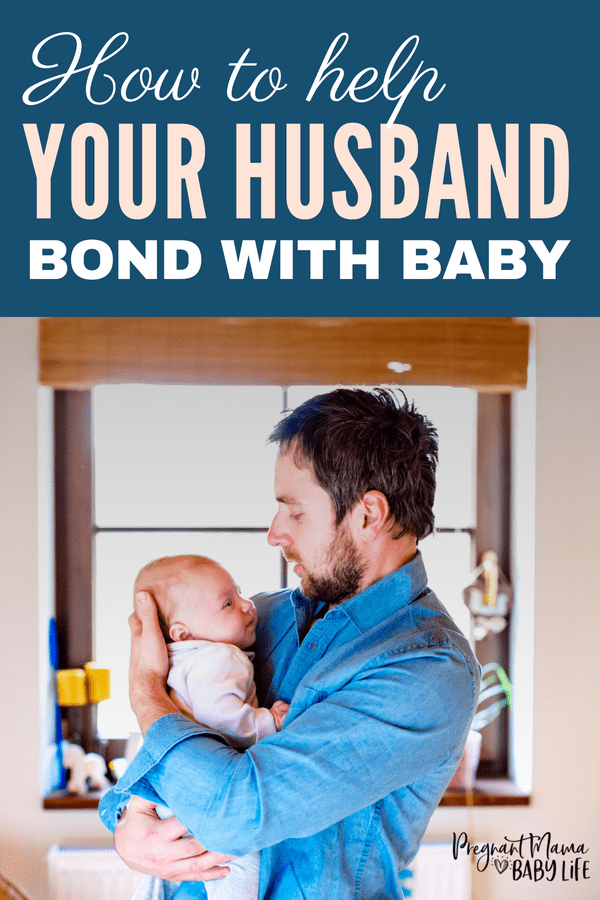 How to Help Dad Bond with the Baby: Even if mom is doing the majority of the housework because he works all day, dads still needs to do things with the baby! Babies need their dad too! Here's how to foster a great relationship between your husband and your babies.