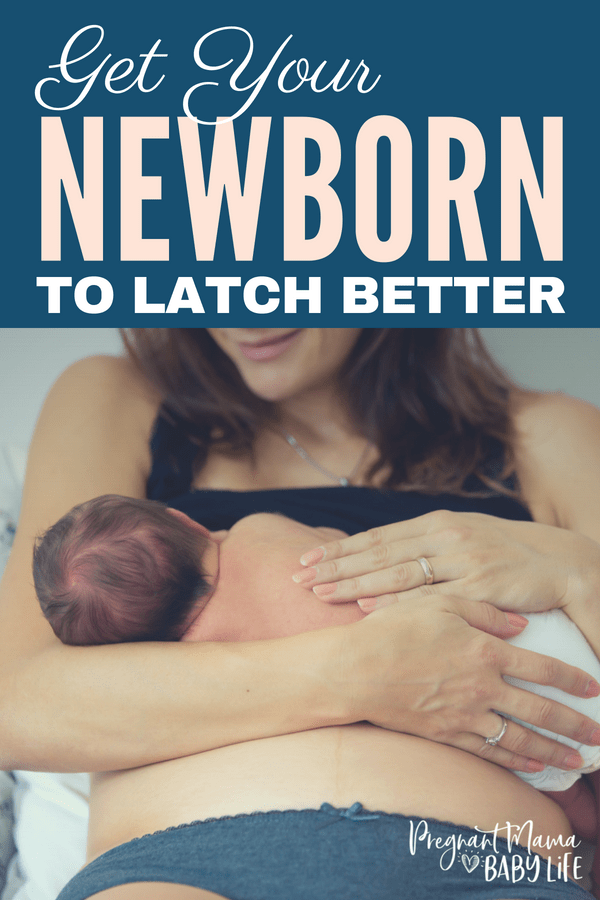 How to get your newborn to latch better. When your starting out breastfeeding, getting a good latch isn't easy. What is a good latch suppose to look like anyway? Here are our best tips for getting your baby to latch to your breast easier, better and with less pain!
