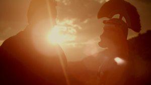 stillbilde - rex barbaricum - folkevandringer - romer i solnedgang