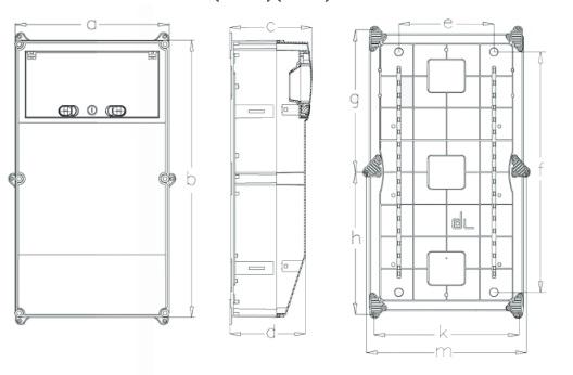 Distribution Board Power Box Ip66 13module Fuse Surface