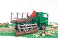 MAN Holztransport-LKW mit Ladekran
