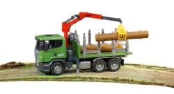 SCANIA R-Serie Holztransport-LKW mit 3 Baumstämmen