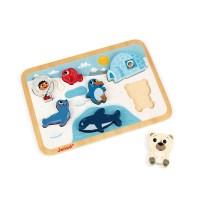 Chunky Puzzle Arktis 7 Teile (Holz)