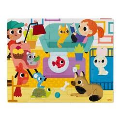 Haptik-Puzzle Haustiere 20 Teile