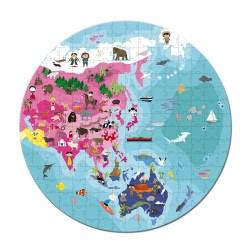 Puzzlekoffer unser Planet Beidseitig bedruckt 208 Teile